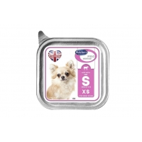 Pachet Butcher's Dog Pro Series Sensitive Pate, Talie Mica si Medie, Vita si Orez, 6x100 g