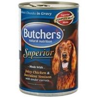 Butcher's Dog Superior Pate, Pui, Cerb si Morcovi, 400 g
