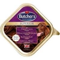 Butcher's Dog Superior Pate, Pui, Ficat si Legume, 150 g
