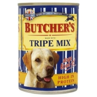 Pachet Butcher's Dog Tripe Mix, 6x400 g