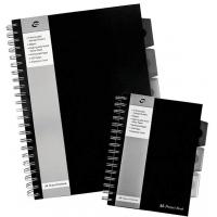 Project Book A4, 125 file 80g/mp, cu spirala dubla, coperti PP rigide, Business Black - dictando