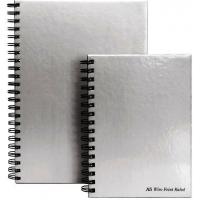 Caiet cu spirala dubla A4, 80 file 90g/mp, coperti carton rigid, Business Silver - dictando