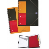 Caiet A4, spirala dubla,  80 file - 80g/mp, 4 perf., coperta PP, OXFORD Meetingbook - dictando