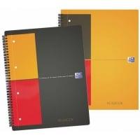Caiet A4, spirala dubla,  80 file - 80g/mp, 4 perf., coperta carton, OXFORD Notebook - dictando