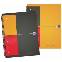 Caiet A4, spirala dubla,  80 file - 80g/mp, 4 perf., coperta carton, OXFORD Notebook - matematica