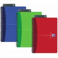 Caiet A4, spirala dubla,  90 file - 90g/mp, 4 perf., coperta carton, OXFORD Essentials - matematica