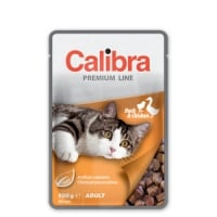 Calibra Cat Pouch Premium Adult Duck and Chicken 100 g