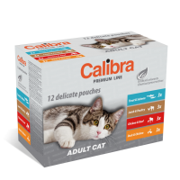 Calibra Cat Pouch Premium Adult Multipack 12 x 100 g