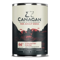 Pachet 4 Conserve Canagan Dog Grain Free Vanat 395 g