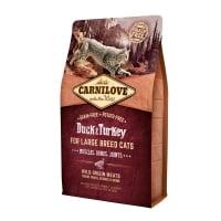 CARNILOVE Adult L-XL, Rață și Curcan, hrană uscată fără cereale pisici talie mare, 400g