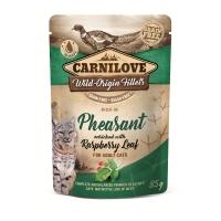 CARNILOVE, File Fazan cu Zmeură, plic hrană umedă fără cereale pisici, (în sos), 85g