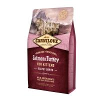 CARNILOVE Healthy Growth Kitten, Somon și Curcan, pachet economic hrană uscată fără cereale pisici junior, 2kg x 2