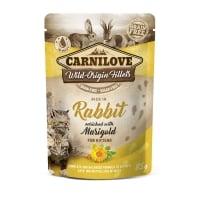 CARNILOVE Kitten, File Iepure cu Gălbenele, plic hrană umedă fără cereale pisici junior, (în sos), 85g