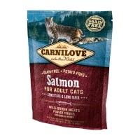 CARNILOVE Sensitive & Long Hair, Somon, hrană uscată fără cereale pisici, sensibilități digestive, piele și blană, 400g