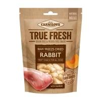 CARNILOVE True Fresh Raw Freeze-Dried, Iepure cu Dovleac, recompense presate la rece fără cereale câini, 40g