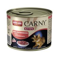 Pachet Carny Kitten Vita si Inimi de Curcan 10 x 200 g