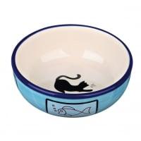 Castron Ceramic Pentru Pisici, 0.35 L, 13 CM