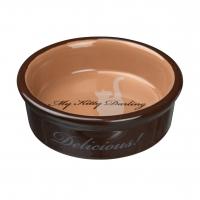 Castron Ceramic pentru Pisici My Kitty 0.2 l, 15 cm