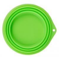 Castron de Silicon Pliabil Kerbl, 1 litru, Verde