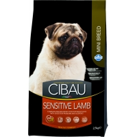 Cibau Adult Sensitive cu Miel Mini, 2.5 kg