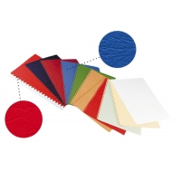 Coperta carton imitatie piele 250g/mp, A4,100/top OPUS - alb