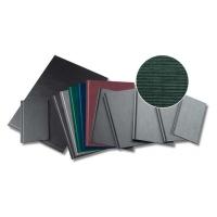Coperti rigide A4, structura panzata, 20 buc/set, Metal-BIND OPUS - verde