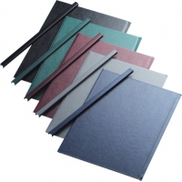 Sina metalica structura panzata, A4,  36-60 pag.( 7 mm) 10 buc/set, Metal -BIND OPUS - albastru