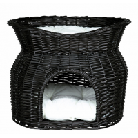 Cos Etajat din Rachita Negru 54 × 43 × 37 cm