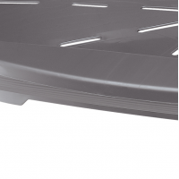 Cos Plastic Siesta Deluxe 10 Argintiu (93,5 X 68 X h28,5 cm)