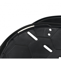Cos Plastic Siesta Deluxe 6 Negru (70,5 X 52 X h23,5cm)