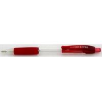 Creion mecanic rubber grip, 0,7mm, varf metalic, PENAC CCH-3 - corp transparent - accesorii rosii