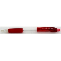 Creion mecanic rubber grip, 0,5mm, varf metalic, PENAC CCH-3 - corp rosu