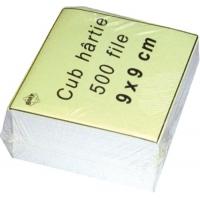 Rezerva cub hartie alb   9x9x7cm, 500 coli/cub