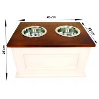Cutie Depozitare Hrana L cu 2 x Suport Castroane Inox 45*33*25 cm