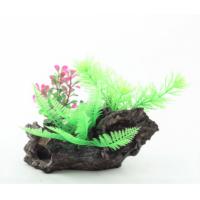 Decor pentru acvariu Enjoy Trunchi mare cu plante 21x12x10 cm