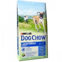 Dog Chow Adult Large Breed Curcan, 14 kg + 2.5 Kg Gratuit