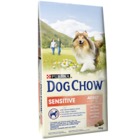 Dog Chow Adult Sensitive Somon, 14 kg + 2.5 kg CADOU