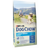 Dog Chow Puppy Large Breed Curcan 14 kg + 2,5 kg Gratuit