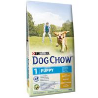 Dog Chow Puppy cu Pui, 14 kg + 2.5 kg Gratuit