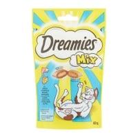 DREAMIES, recompense pisici, pernuțe umplute cu somon și brânză, 60g