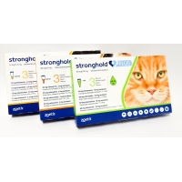 Stronghold Plus Pisica 15 mg, < 2.5 kg, 0.25ml, 3 pipete