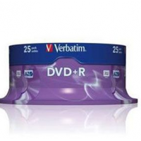 VERBATIM DVD+R 16X 4,7GB SP25/PK