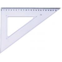Echer 60 grade, 25 cm, plastic transparent, KANGARO