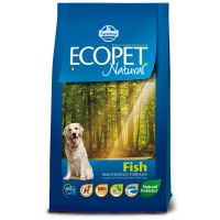 Ecopet Natural Fish Medium, 12 kg