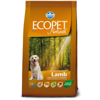 Ecopet Natural Lamb Medium, 12 kg