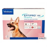 Effipro Duo Dog Virbac L (20-40 kg), 4 pipete