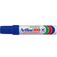Permanent marker varf tesit, 7,5-12,0mm, corp metalic, ARTLINE 100 - albastru