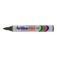 Permanent marker varf rotund, 1.5mm, corp plastic, ARTLINE 107 - verde