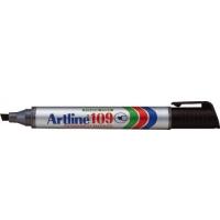 Permanent marker varf tesit, 2,0-5,0mm, corp plastic, ARTLINE 109 - negru