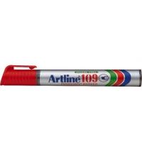 Permanent marker varf tesit, 2,0-5,0mm, corp plastic, ARTLINE 109 - rosu